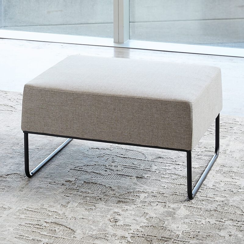 light grey ottoman in office setting image number null