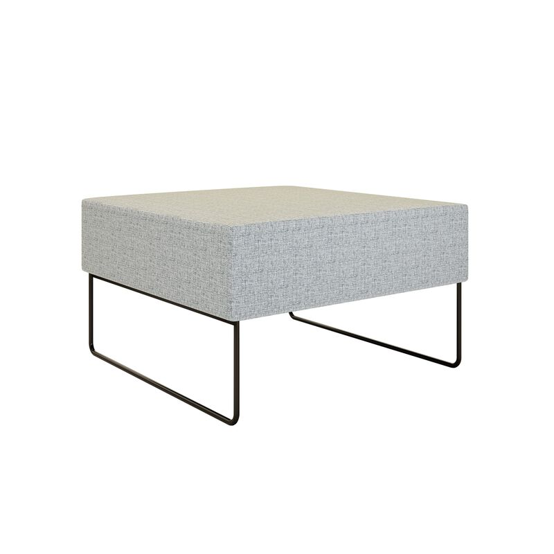 light grey ottoman on white background image number null