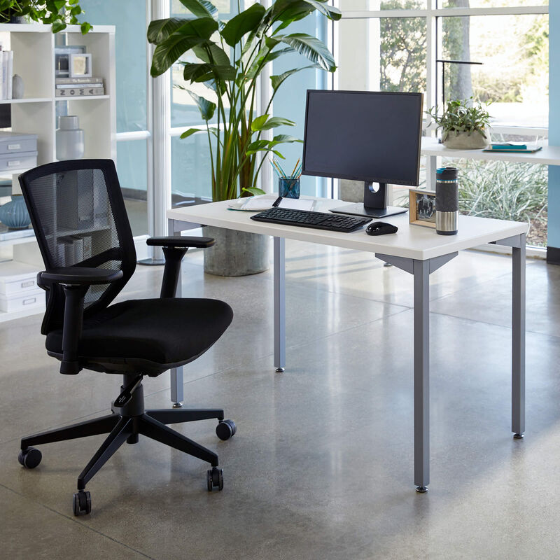 quickpro table 48 with task chair to creat ergonomic workspace image number null