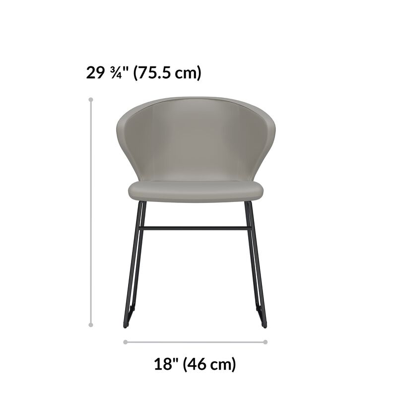 cafe chair is 29 and 3 quarter inches tall and 18 inches wide image number null