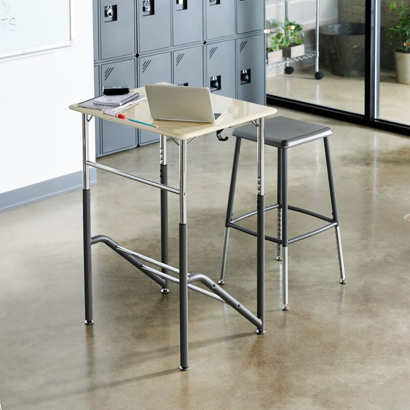 Standing School Desks 5-12 Maple in classroom at school image number null