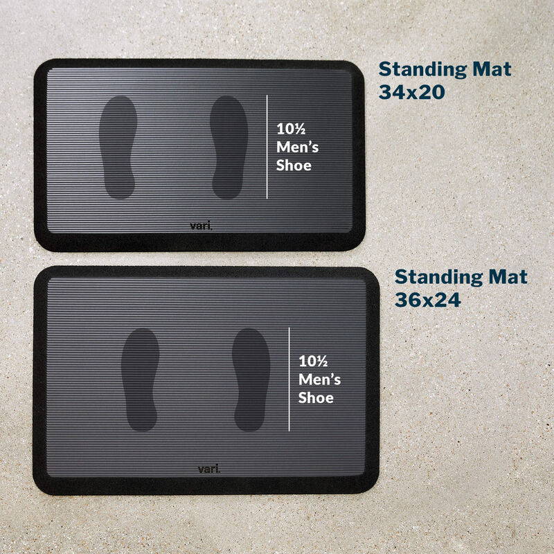 standing mat 36 by 24 with a mens size 10 and a half shoe print  image number null