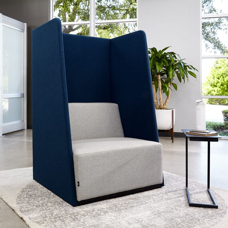 fabric high back chair in office setting image number null