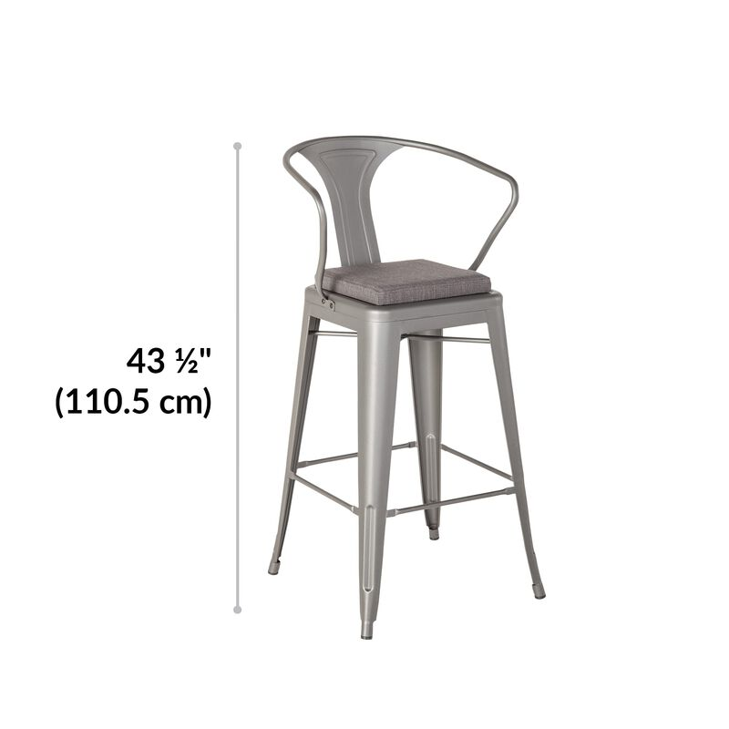 Metal Conference Chair in Slate is 43.5 inches tall image number null