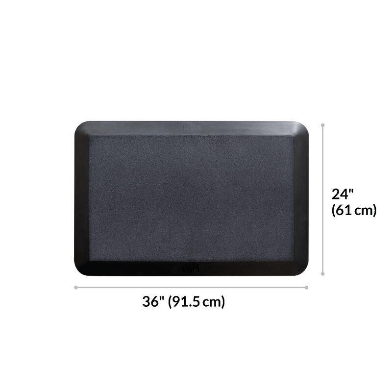 Standing Mat 36x24 Black is 24 inches deep and 36 inches wide image number null
