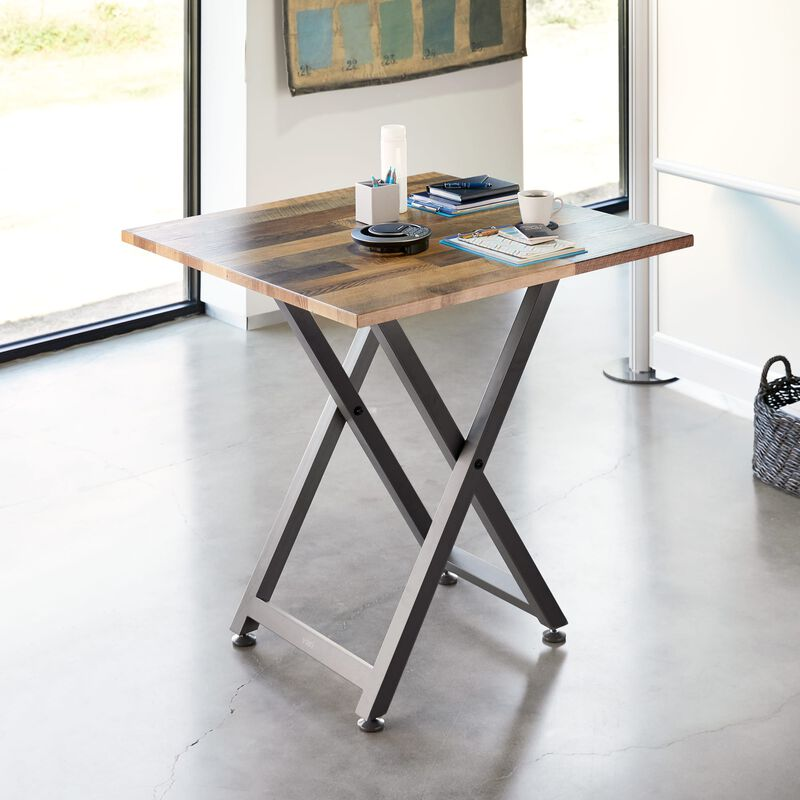 Standing Meeting Table Reclaimed Wood in office image number null