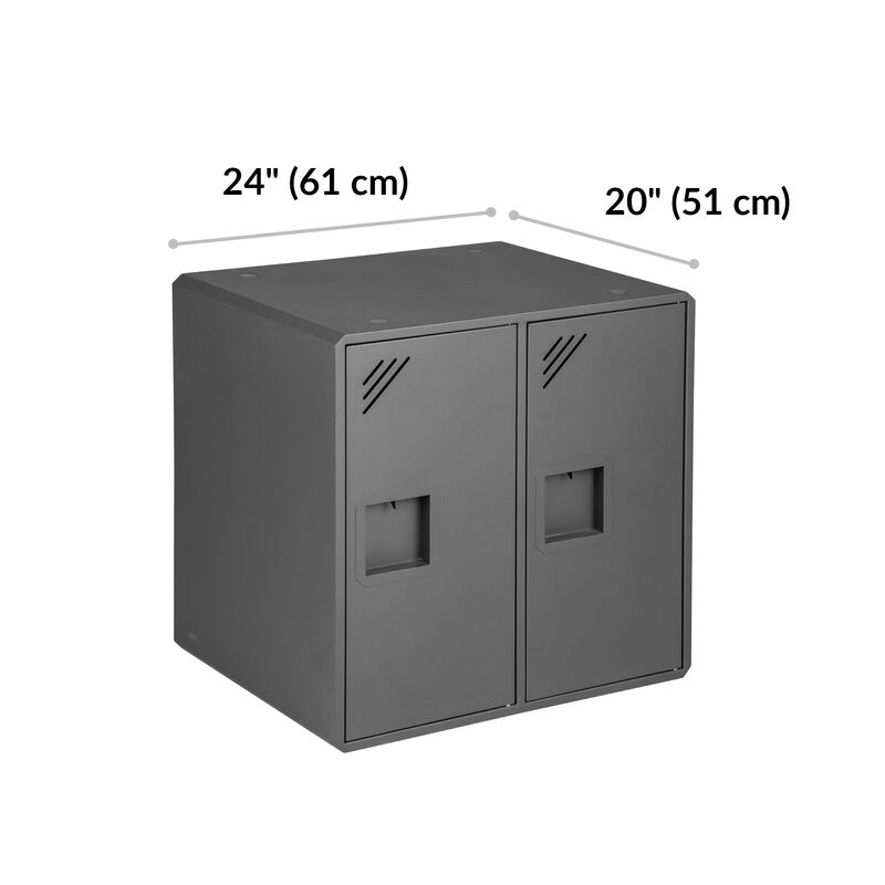 Lockers by Vari® dimensions are 24 inches wide and 20 inches deep image number null