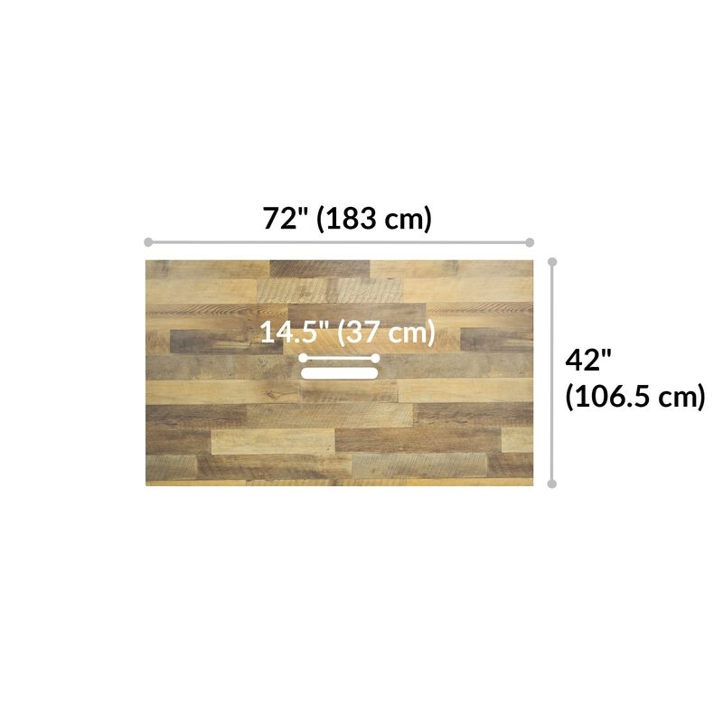 Conference Table Reclaimed Wood is 72 inches wide and 42 inches deep image number null
