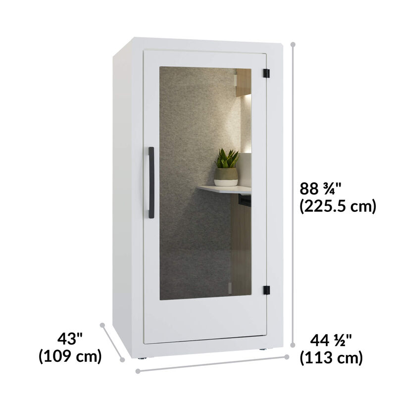 privacy booth is 88 and 3 quarter inches tall and 44 and a half inches wide image number null
