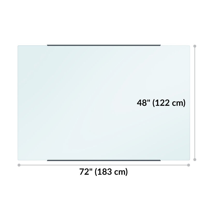 vari glass board is 72 inches wide and 48 inches long image number null