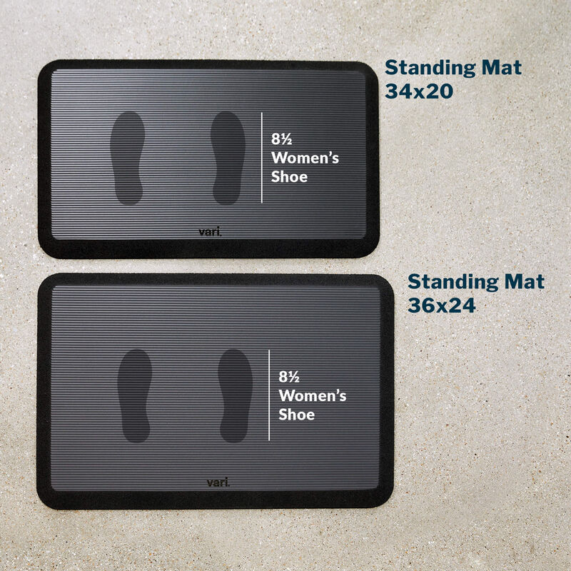 standing mat 36 by 24 with a womens size 8 and a half shoe print  image number null