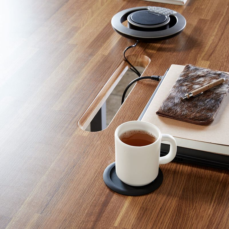 Overhead view of Standing Conference Table Butcher Block image number null