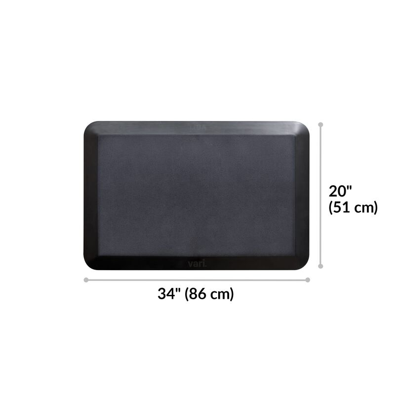 Standing Mat 34x20 Black is 20 inches deep and 34 inches wide image number null