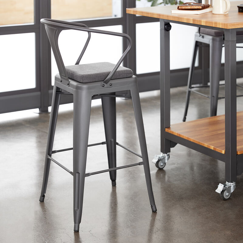Metal Conference Chair in Slate in office image number null