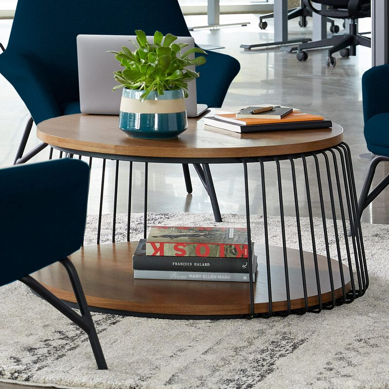 Round Coffee Table in office setting image number null