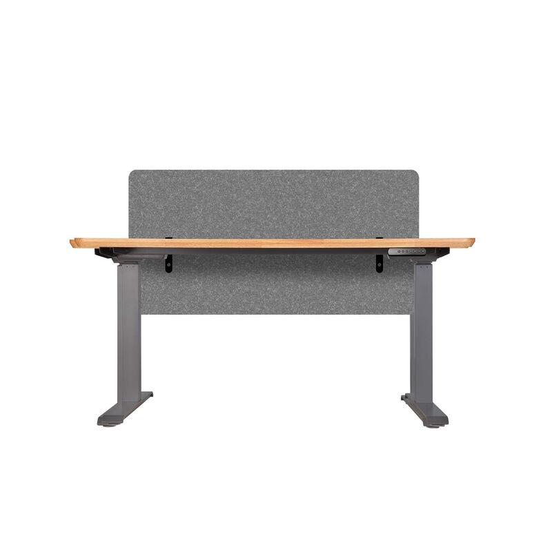 Vari felt panel 48 inch in light gray mounted on desk image number null