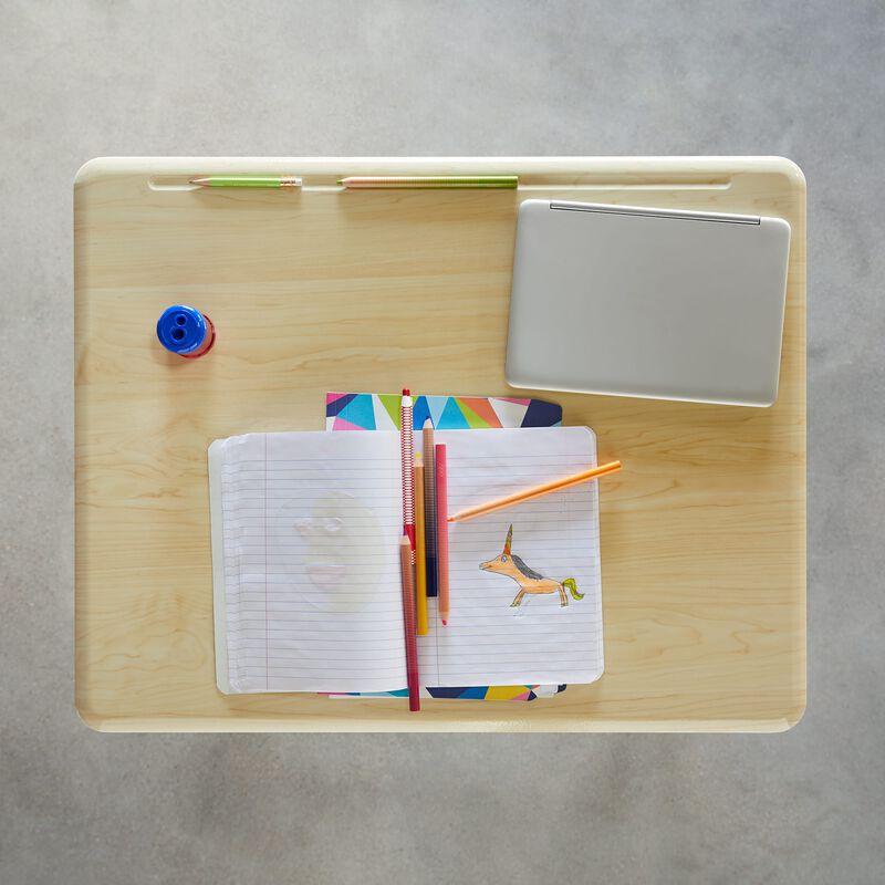 Overhead view of Standing School Desks 5-12 Maple image number null