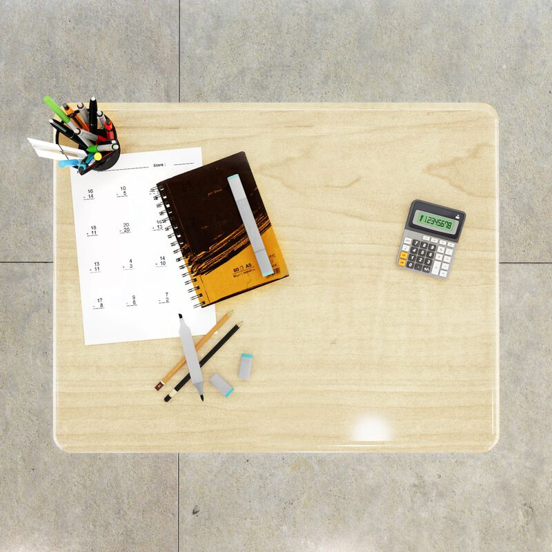 Overhead view of Sit-Stand School Desk 3-12 Maple image number null