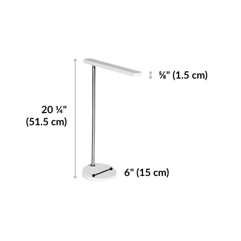 LED Task Lamp White is 20.25 inches tall image number null