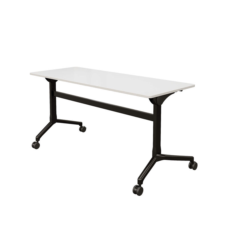 flip top training table 5 ft in white on white background image number null