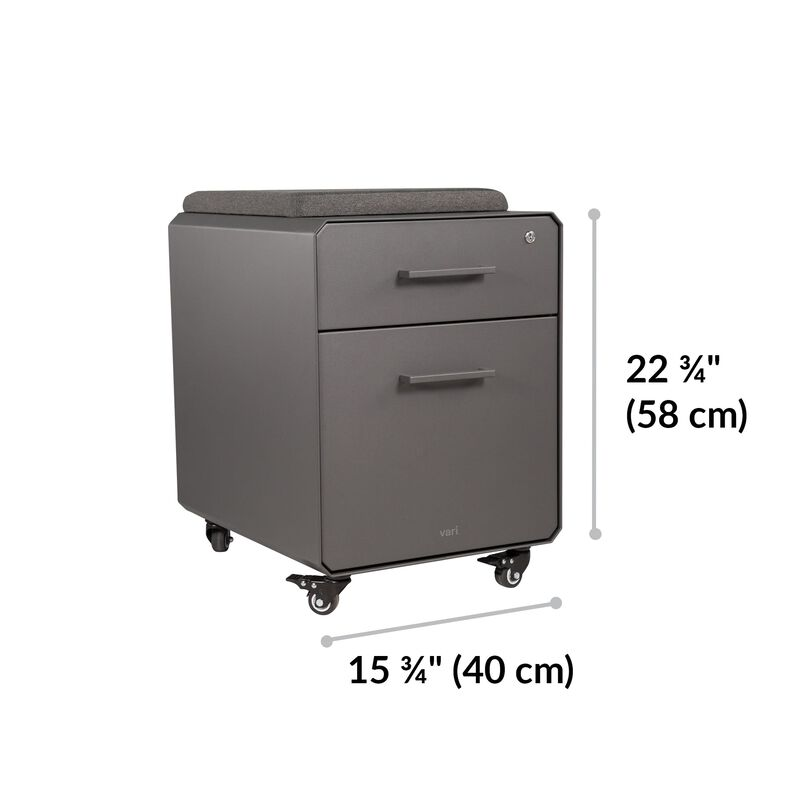 Storage Seat Slate is 22.75 inches tall and 15.75 inches wide image number null