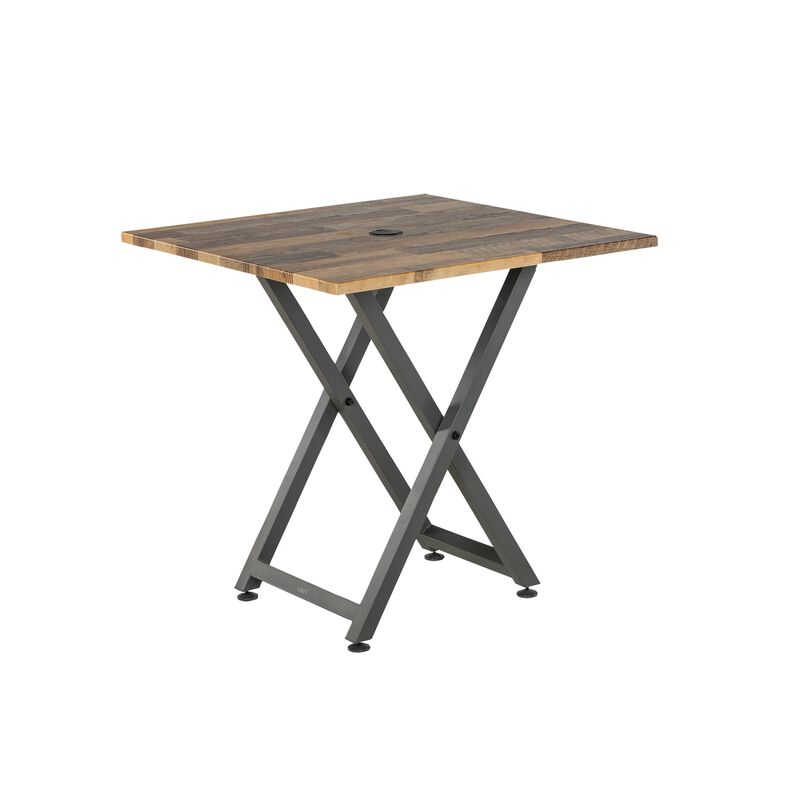 vari Standing Meeting Table Reclaimed Wood image number null