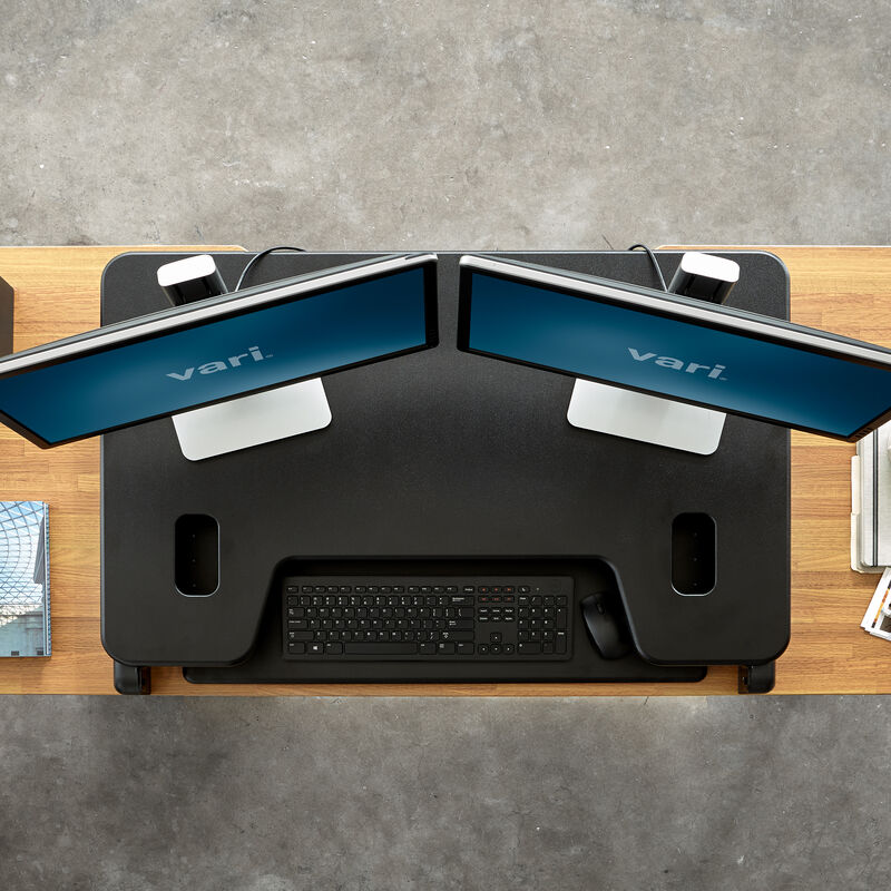 Overhead view of VariDesk® Tall 40 Black image number null