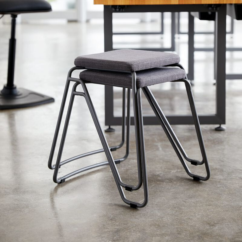 Stool in Slate stacked in office image number null