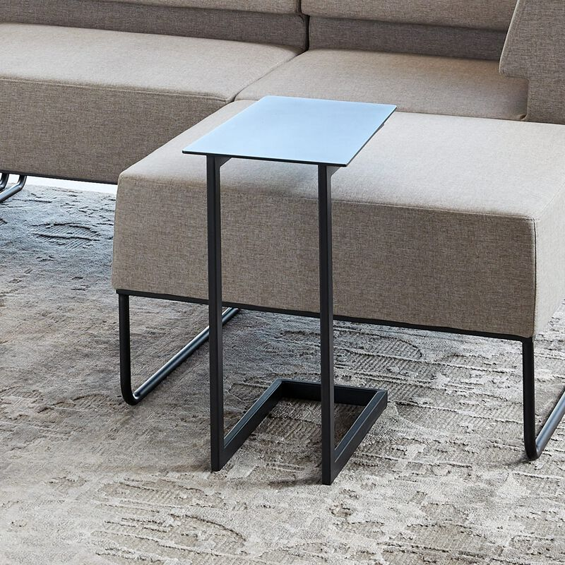 laptop side table tucked into sectional sofa image number null