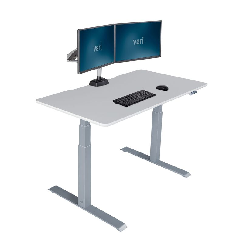 Electric Standing Desk 48x30 White in raised position image number null