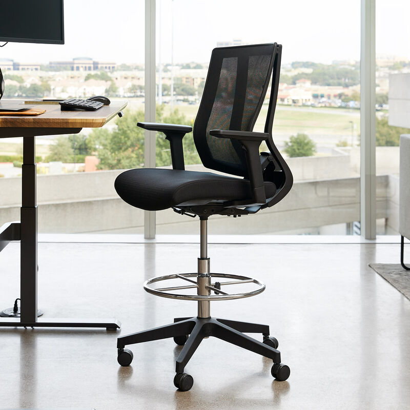 vari drafting chair in office  image number null