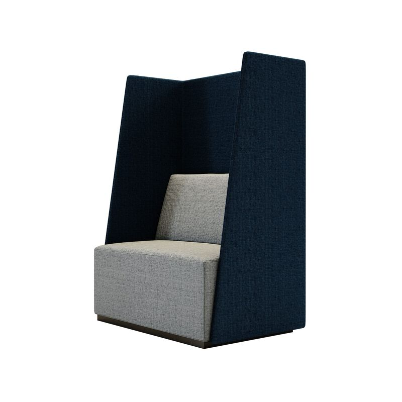 fabric high back chair on white background image number null