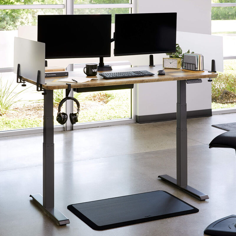 Vari acrylic privacy panel 30 attached to electric standing desk image number null