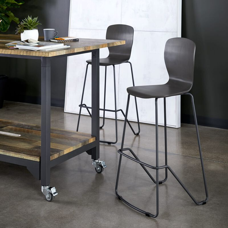 Wood Conference Chair in Dark Gray in office image number null