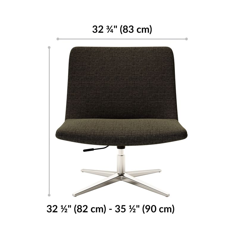 lounge chair is 32 and half inches tall and 32 and 3 quarter inhes wide  image number null