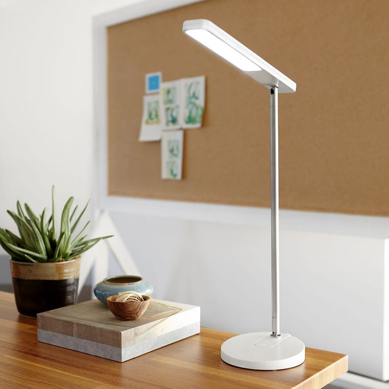 LED Task Lamp White in office on desk image number null