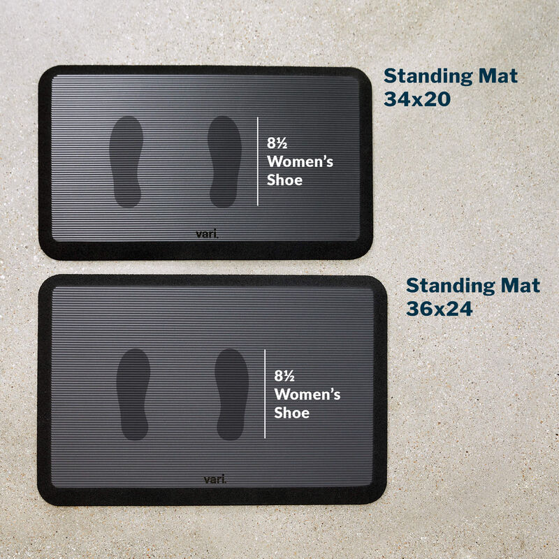 Standing mat 34 by 20 with a womens size 8 and a half shoe print image number null