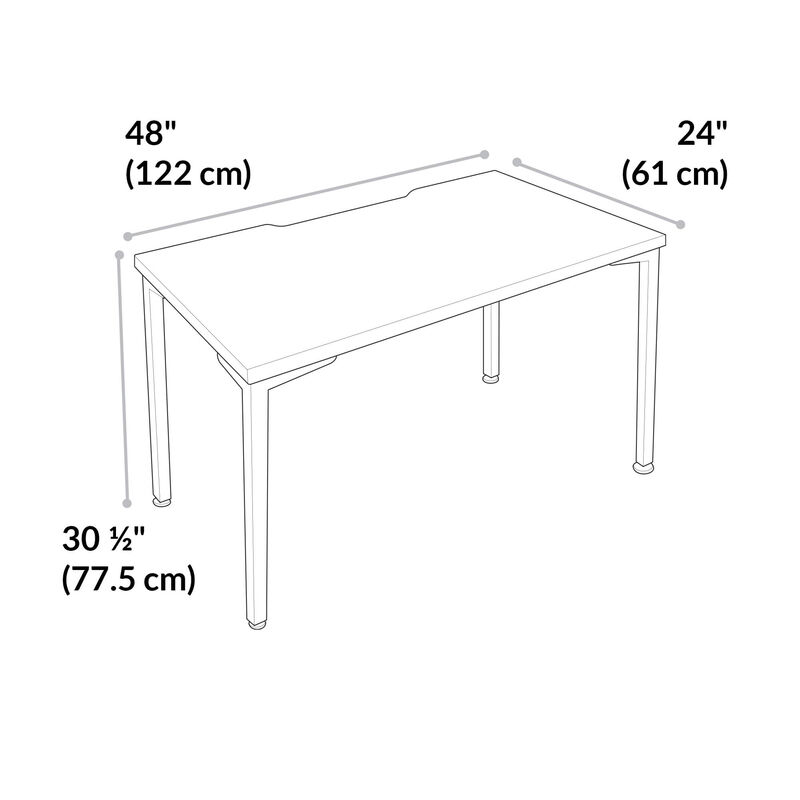 quickpro table 48 is 48 inches wide, 24 inches long, and 30 and a half inches tall.  image number null