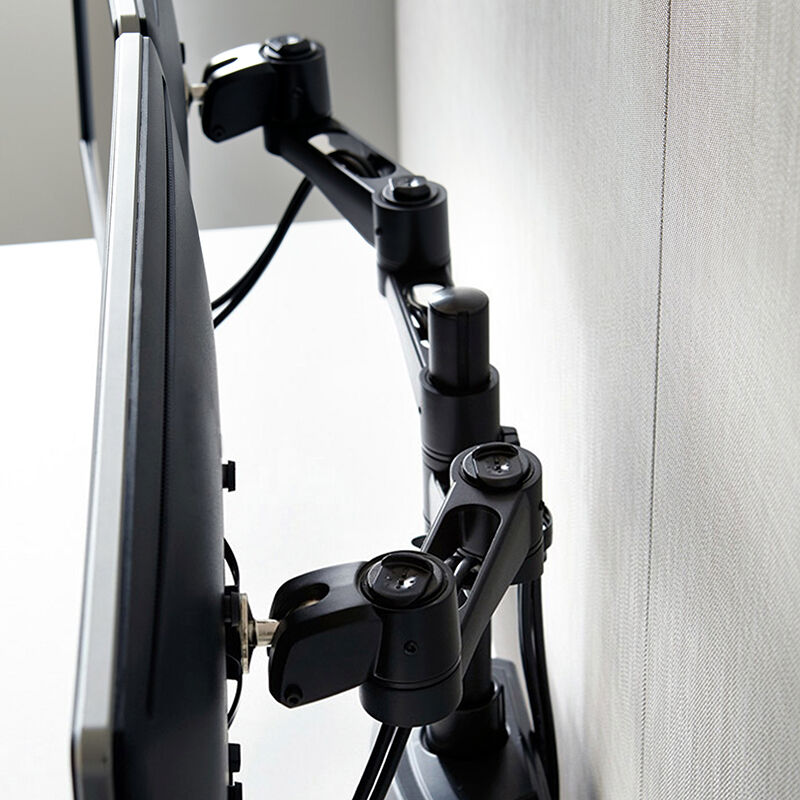 Overhead view of Dual-Monitor Arm 180° Black image number null