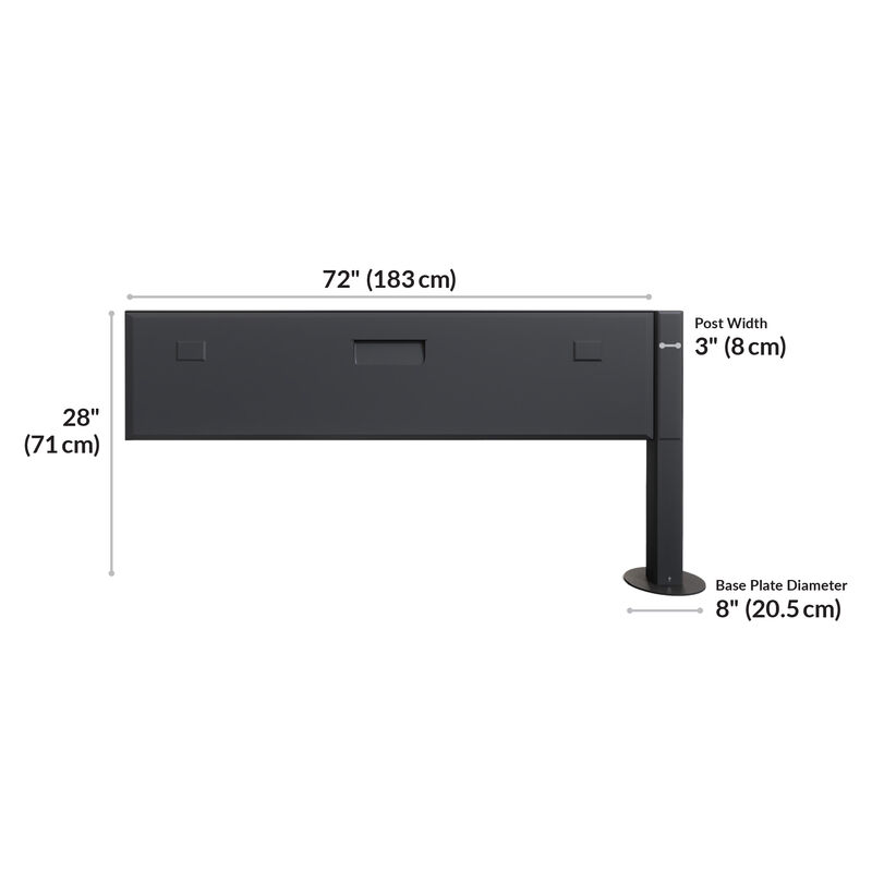 Power beam extension kit 72 is 72 inches wide and 28 inches tall image number null