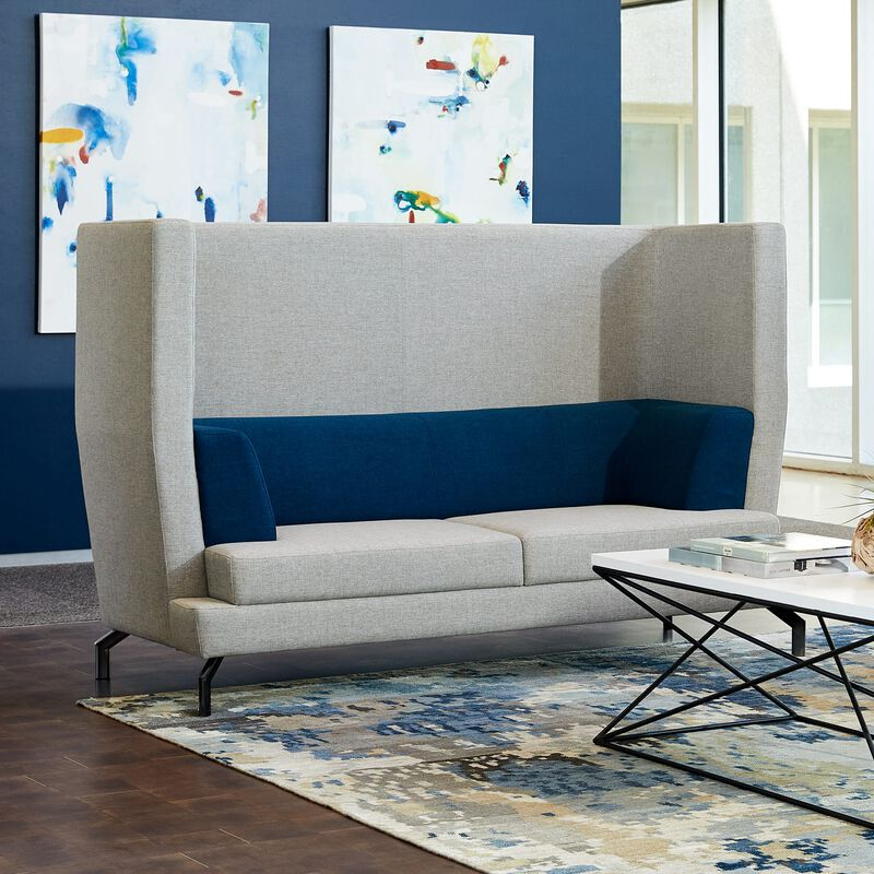 fabric high back sofa image number null