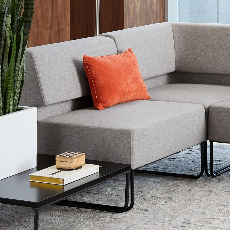 light grey armless seat shown as part of sectional sofa image number null