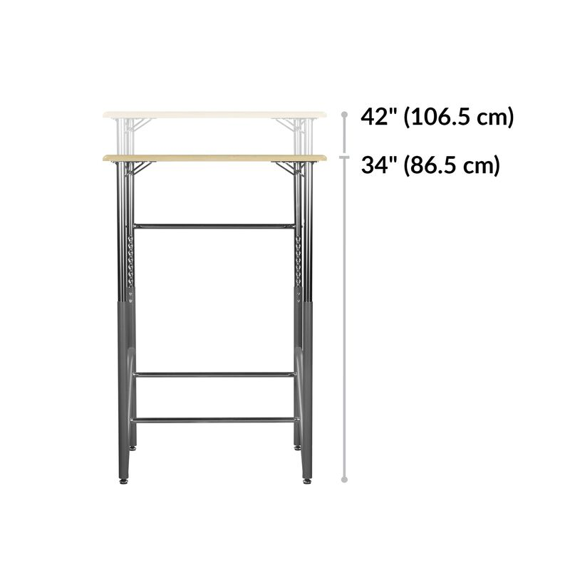 Standing School Desks 5-12 Maple base is 19 inches deep image number null