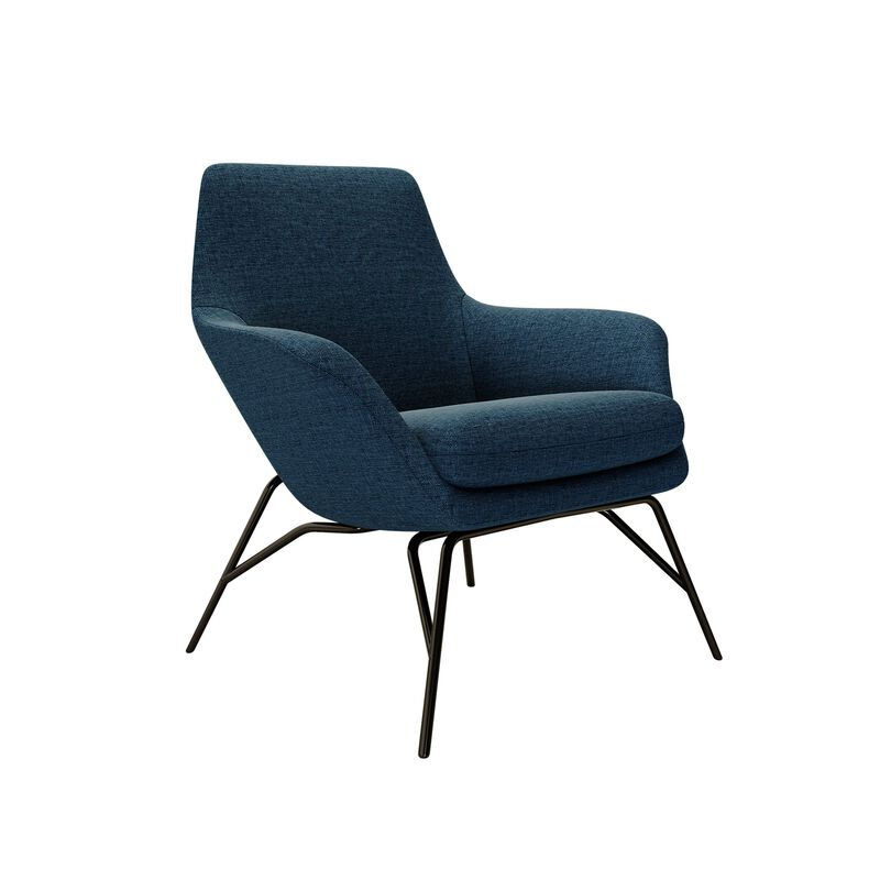 navy arm chair on white backgroun image number null