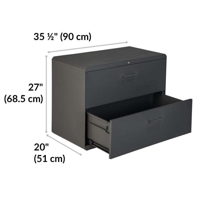 vari lateral file cabinet is 27 inches tall and 35 and a half inches wide image number null