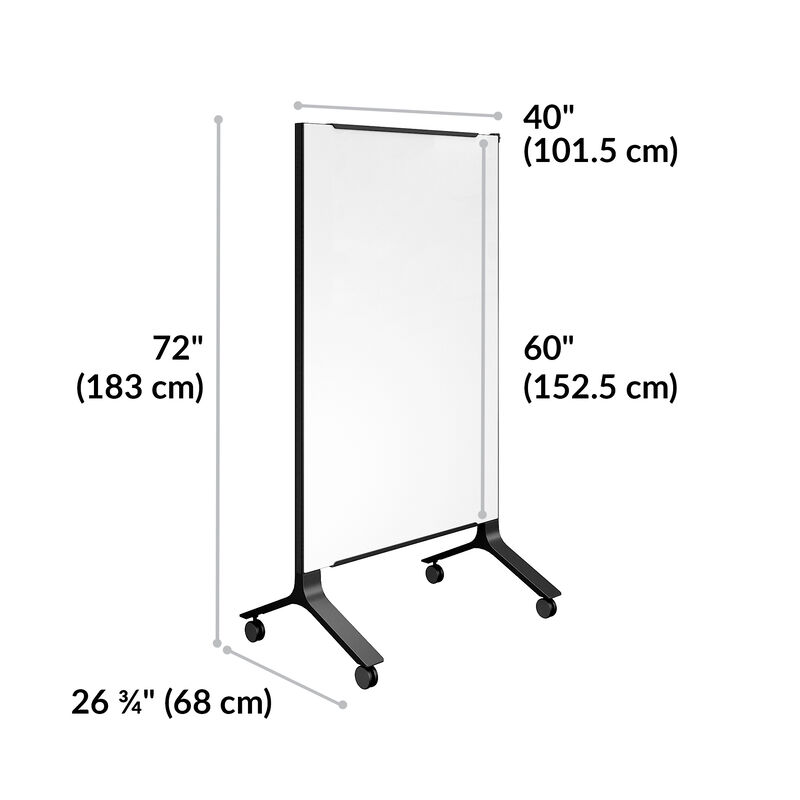 mobile glass board 40x72 is 40 inches wide and 72 inches tall image number null