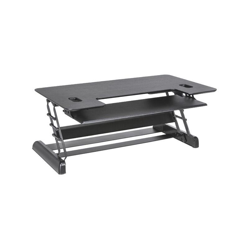 VariDesk Pro Plus 48 Black sit-stand desk converter in raised position image number null