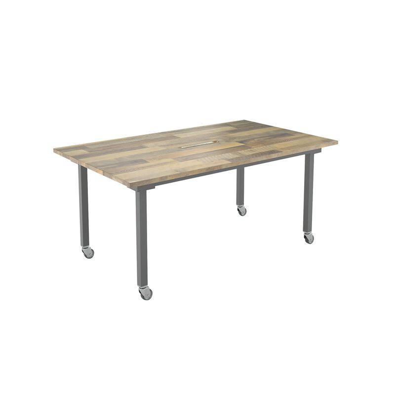 vari conference table in reclaimed wood finish  image number null