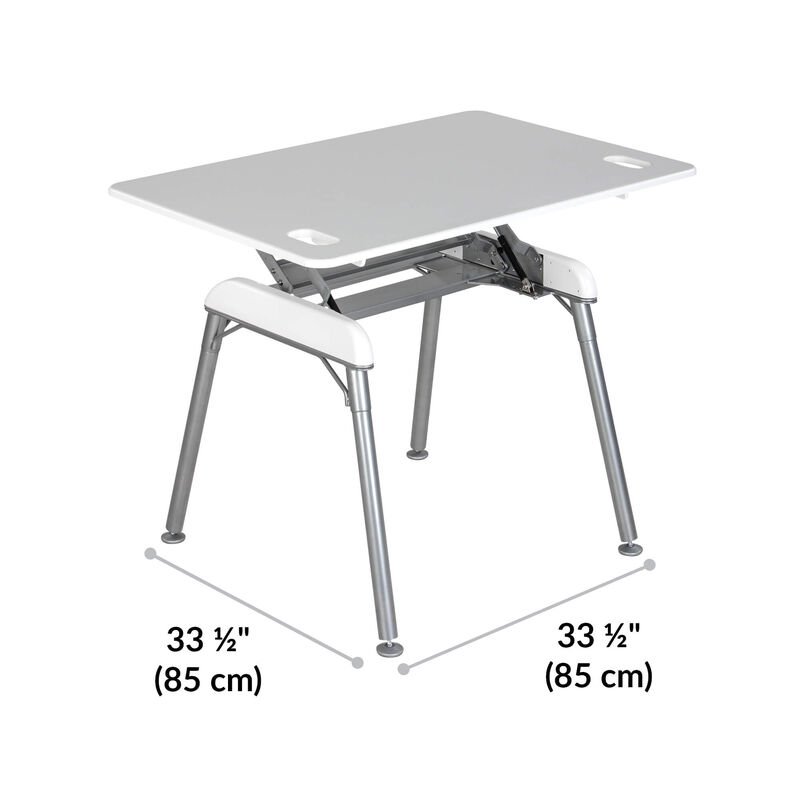Standing Desk 48x32 White base is 33.5 inches deep and 33.5 inches wide image number null