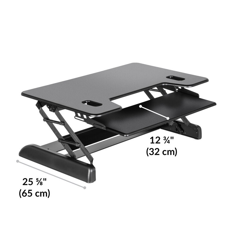 VariDesk® Tall 40 Black base is 25.6 inches deep image number null